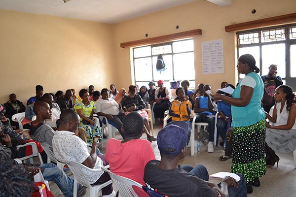 HRD workshop at Mathare Social Justice Center