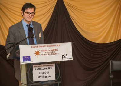 "Andy Barnard, First Counsellor of the European Union Delegation to Kenya, gave the keynote address. He emphasized the EUs commitment to support efforts that aim to eliminate violence against women. On the issue of gender-based violence (GBV) he stressed that ""It's about changing attitudes, not just implementing legislation""."